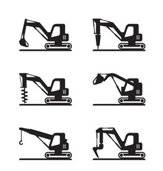 mini construction machinery vector image