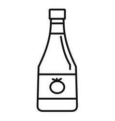 natural ketchup bottle icon outline style vector image