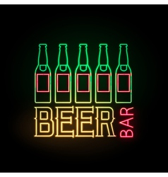 Neon sign Beer bar vector image