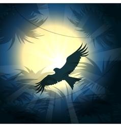 nighthawk over rain forest vector image