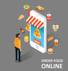 order food online isometric vector image