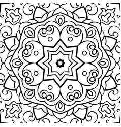 Oriental template for shawl vector