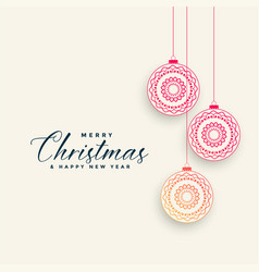 ornamental chrismtas ball decoration background vector image