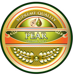 pear juice gold icon vector image
