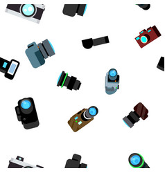 photo camera seamless pattern photocamera vector image