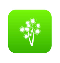 Prickly palm icon digital green vector