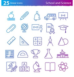 School education and science icons set vector image