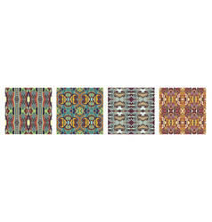 seamless geometry vintage pattern ethnic style vector image