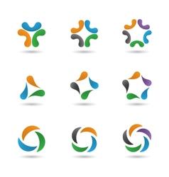 Set abstract sapes vector