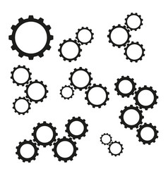 set of cogwheels work icons vector image