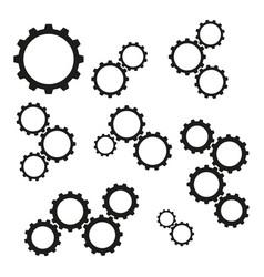 Set of cogwheels work icons vector