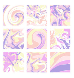 set of marble patterns abstract texture vector image