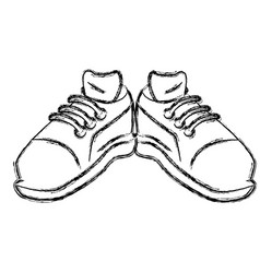 sport sneakers wearfoot vector image