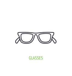sunglasses with plastic rimmed outline icon vector image