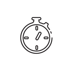 Thin line stopwatch icon vector