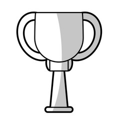 Winner cup trophy prize - shadow vector