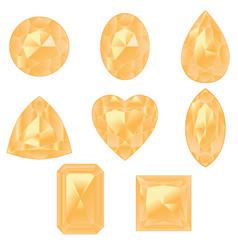 Yellow gemstones set vector
