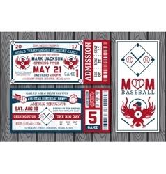 Baseball labels vector image