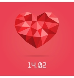 Happy valentines day design template Low vector image