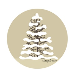 Merry Christmas background with Christmas tree vector image