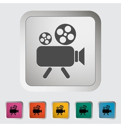Videocam vector image vector image