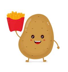 cute happy smiling funny potato vector image vector image