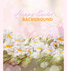 happy easter background realistic vector image