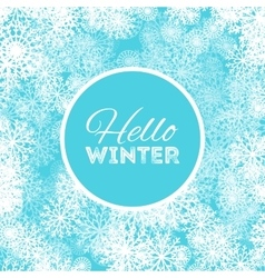 Hello winter abstract background design with vector
