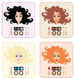 make-up for women vector image