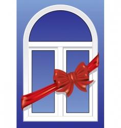 windows as a gift vector image vector image
