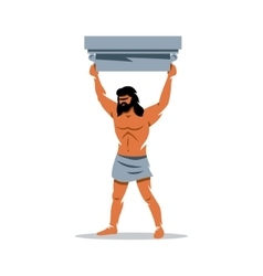 Atlas sign In Greek mythology mighty vector image