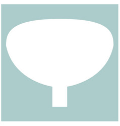 bladder the white color icon vector image