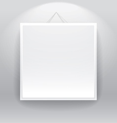 Blank frame on the wall vector image