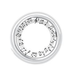 music notes border musical frame background vector image