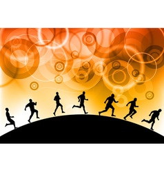 silhouettes of athletes vector image vector image