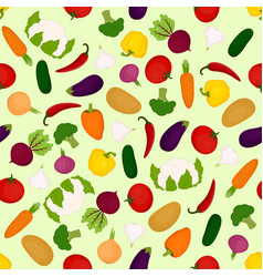 bright vegetable pattern vector image