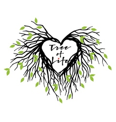 heart tree of life vector image vector image