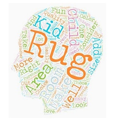 How To Buy Kid s Rugs text background wordcloud vector image