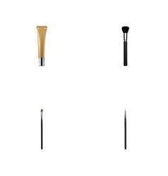 realistic fashion equipment eye paintbrush vector image vector image