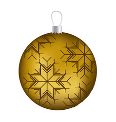 realistic golden garland christmas with snowflakes vector image