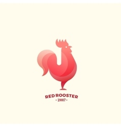 Stylized Red Rooster Sign Emblem or Logo Template vector image vector image