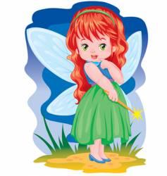 the magic fairy vector image