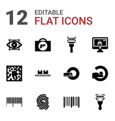12 scan icons vector