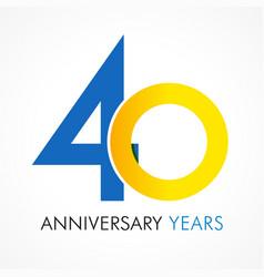 40 circle anniversary logo vector image