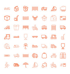 49 delivery icons vector image