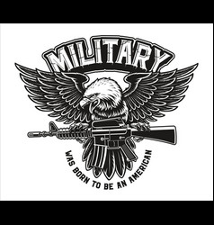A an american eagle with m16 rifle vector