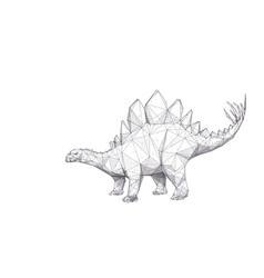 Abstract polygonal hand drawing stegosaurus vector