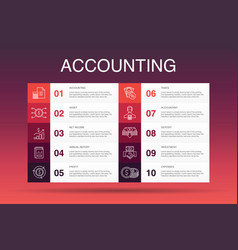 Accounting infographic 10 option templateasset vector
