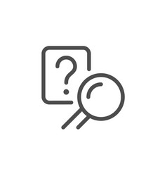 Answer search line icon vector