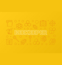 beekeeper creative yellow outline vector image